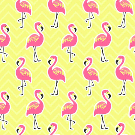 Ilustración de Beautiful seamless pattern with flamingo - Imagen libre de derechos