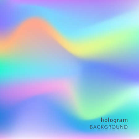 Illustration pour Holographic abstract background. Cosmic surreal texture. Vector illustration in neon colors, 80s 90s trendy style design. - image libre de droit