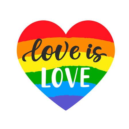 Ilustración de Love is love brush lettering - Imagen libre de derechos