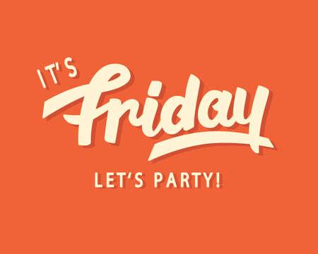 Illustration pour Its Friday. Lets Party! - image libre de droit