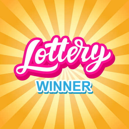Illustration for Lottery Game Banner. Modern Hand Lettering - Royalty Free Image
