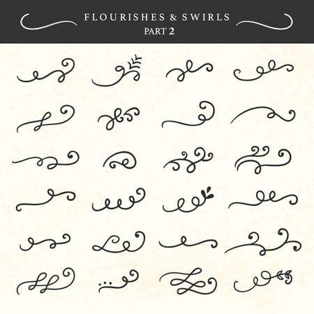 Illustration pour Vector flourishes, swirls, curls and scrolls set - image libre de droit