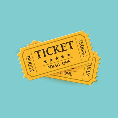 Illustration for Cinema tickets on background. Retro style - Royalty Free Image