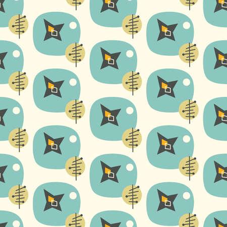 Illustration pour Mid century modern seamless pattern - image libre de droit