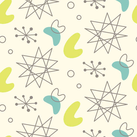 Illustration for Mid century modern seamless pattern - Royalty Free Image