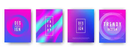 Illustration pour Modern futuristic ultra violet covers set - image libre de droit