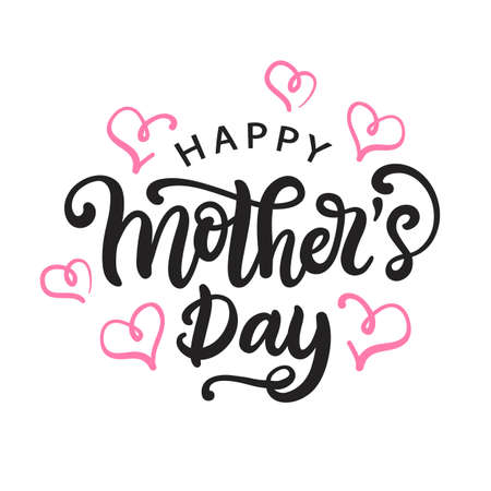 Photo for Happy Mothers day card with modern calligraphy - Royalty Free Image