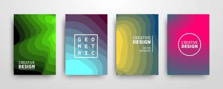 Ilustración de Modern futuristic abstract geometric covers set - Imagen libre de derechos