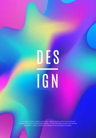Illustration pour Modern dynamic futuristic cover design on hologram fluid illustration. - image libre de droit
