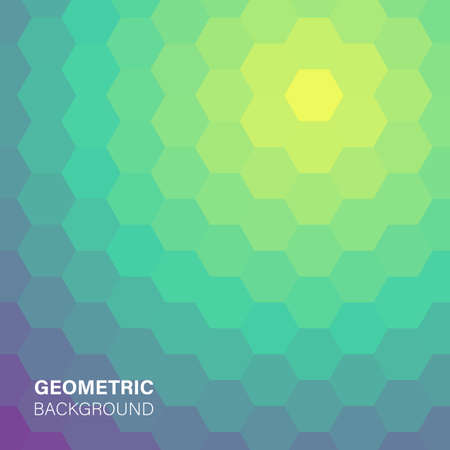 Ilustración de Modern futuristic abstract geometric cover illustration. - Imagen libre de derechos