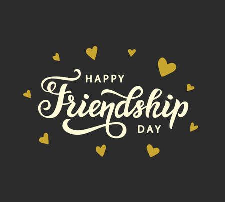 Illustration pour Happy Friendship Day cute poster - image libre de droit