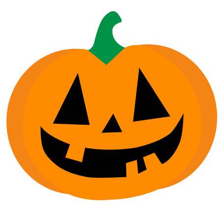 Ilustración de A smiling orange halloween pumpkin conceptual vector - Imagen libre de derechos