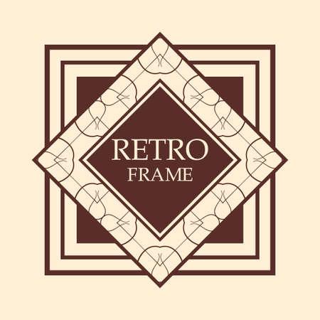 Illustration for art deco vintage border vector design template illustration - Royalty Free Image