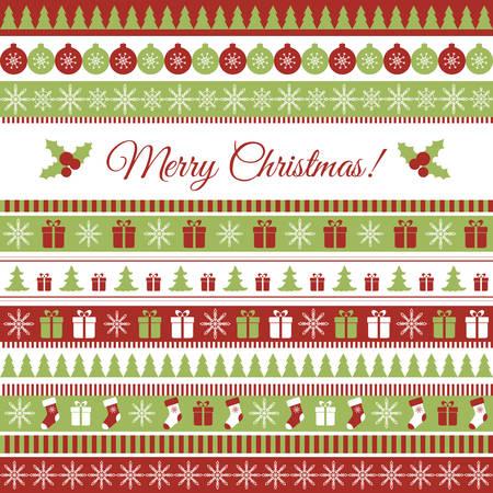 Illustration pour Vector Christmas greeting card with Christmas elements - image libre de droit