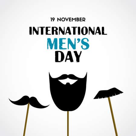 Illustration pour International mens day vector greeting card - image libre de droit