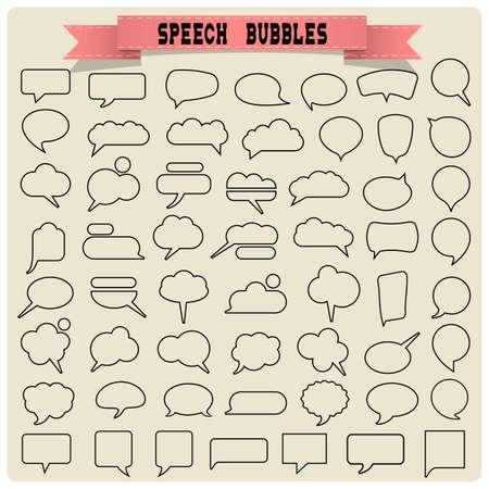 Illustration pour Big set of speech bubbles. Vector collection - image libre de droit