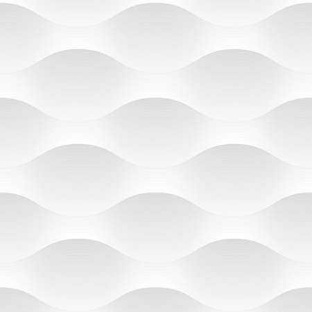 Illustration pour White seamless pattern background of abstract waves. Vector background. Grey and white texture, graphic pattern, wallpaper - image libre de droit