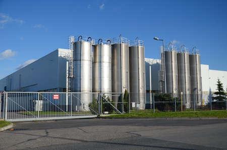 Foto de Modern factory building - Imagen libre de derechos