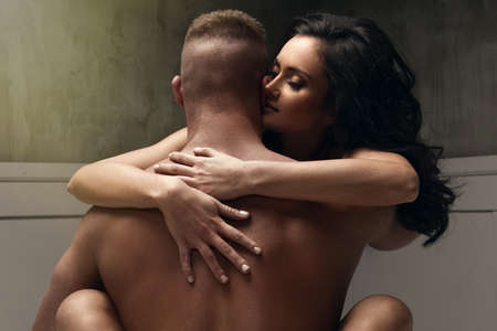 Photo for Passion portrait of couple in love - Royalty Free Image
