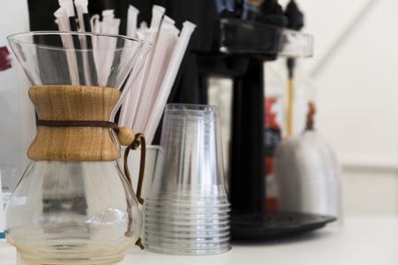 Foto de Cofee preperation set - Imagen libre de derechos