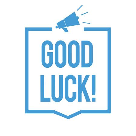 Foto de Word writing text Good Luck. - Imagen libre de derechos