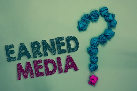 Photo for Conceptual text writing showing Earned Media. - Royalty Free Image