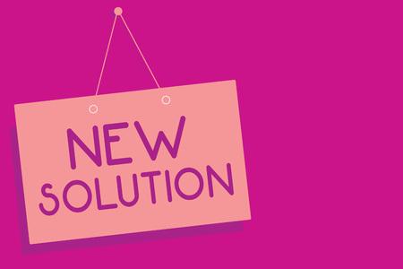 Photo pour Text sign showing New Solution. - image libre de droit