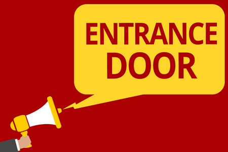 Photo for Handwriting text writing Entrance Door. - Royalty Free Image