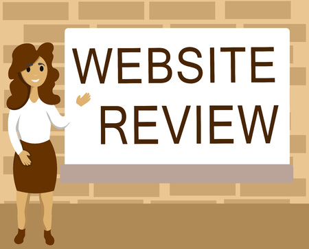 Photo for Word writing text Website Review. Business concept for Reviews that can be posted about businesses and services. - Royalty Free Image