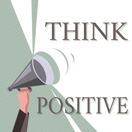 Photo pour Writing note showing Think Positive. Business photo showcasing The tendency to be positive or optimistic in attitude. - image libre de droit