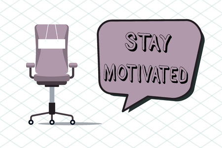 Foto de Handwriting text Stay Motivated. Concept meaning Reward yourself every time you reach a goal with knowledge. - Imagen libre de derechos