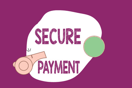 Foto de Handwriting text writing Secure Payment. Concept meaning Security of Payment refers to ensure of paid even in dispute. - Imagen libre de derechos