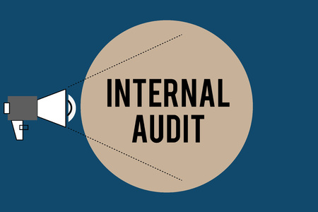 Photo for Handwriting text Internal Audit. Concept meaning Evaluates the effectiveness of the controls and processes. - Royalty Free Image