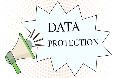 Foto de Word writing text Data Protection. Business concept for Protect IP addresses and personal data from harmful software. - Imagen libre de derechos