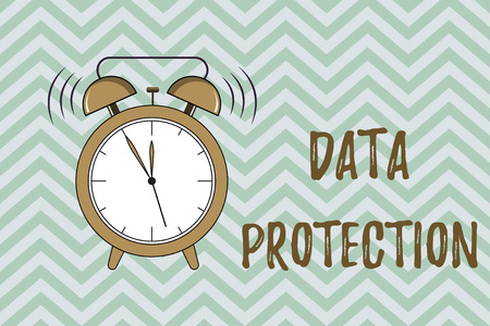 Foto de Handwriting text writing Data Protection. Concept meaning Protect IP addresses and personal data from harmful software. - Imagen libre de derechos