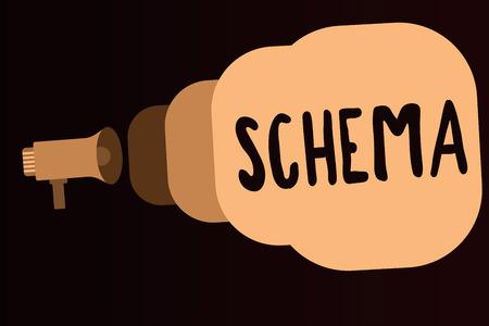 Foto de Handwriting text Schema. Concept meaning representation of plan or theory in form of outline or model. - Imagen libre de derechos