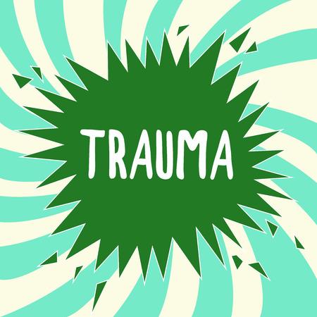 Foto de Writing note showing Trauma. Business photo showcasing deeply distressing or disturbing experience Physical injury. - Imagen libre de derechos