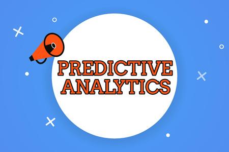 Foto de Word writing text Predictive Analytics. Business concept for Optimize Collection Achieve CRMIdentify Customer. - Imagen libre de derechos