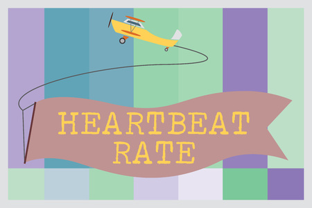Foto de Word writing text Heartbeat Rate. Business concept for measured by number of times the heart contracts per minute. - Imagen libre de derechos