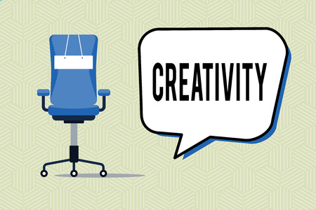 Photo pour Writing note showing Creativity. Business photo showcasing Use of imagination or original ideas to create something. - image libre de droit
