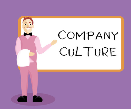 Foto de Writing note showing Company Culture. Business photo showcasing The environment and elements in which employees work. - Imagen libre de derechos