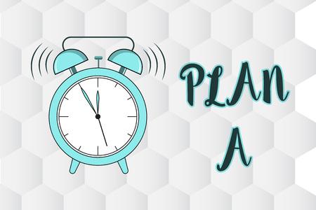 Foto de Text sign showing Plan A. Conceptual photo ones original plan or strategy detailed proposal for doing something. - Imagen libre de derechos