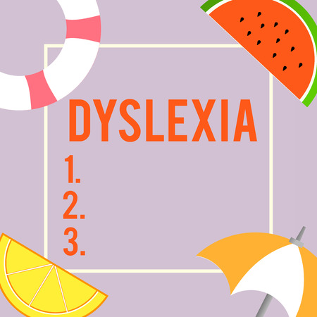 Foto de Text sign showing Dyslexia. Conceptual photo Disorders that involve difficulty in learning to read and improve. - Imagen libre de derechos