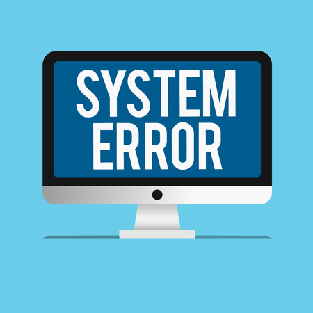 Photo pour Conceptual hand writing showing System Error. Business photo showcasing Technological failure Software collapse crash Information loss. - image libre de droit