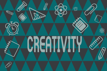 Photo pour Word writing text Creativity. Business concept for Use of imagination or original ideas to create something. - image libre de droit