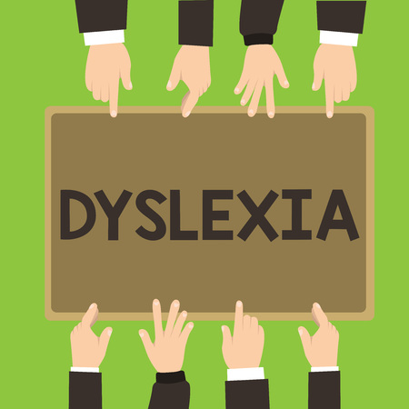 Foto de Conceptual hand writing showing Dyslexia. Business photo showcasing Disorders that involve difficulty in learning to read and improve. - Imagen libre de derechos