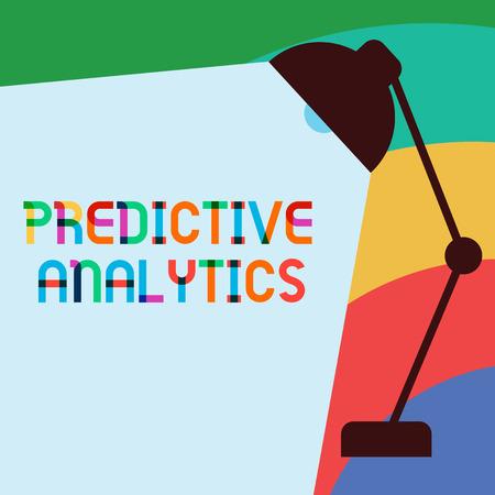 Foto de Text sign showing Predictive Analytics. Conceptual photo Optimize Collection Achieve CRMIdentify Customer. - Imagen libre de derechos