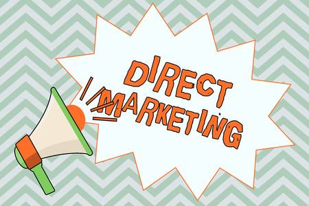 Photo pour Writing note showing  Direct Marketing. Business photo showcasing business of selling products or services to public. - image libre de droit
