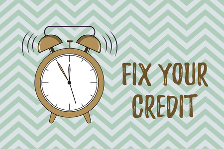 Photo for Handwriting text writing Fix Your Credit. Concept meaning Keep balances low on credit cards and other credit. - Royalty Free Image