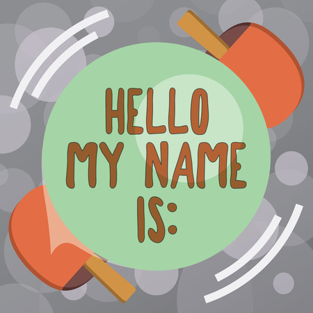 Foto per Text sign showing Hello My Name Is. Conceptual photo Introducing oneself to others You want people to call you. - Immagine Royalty Free